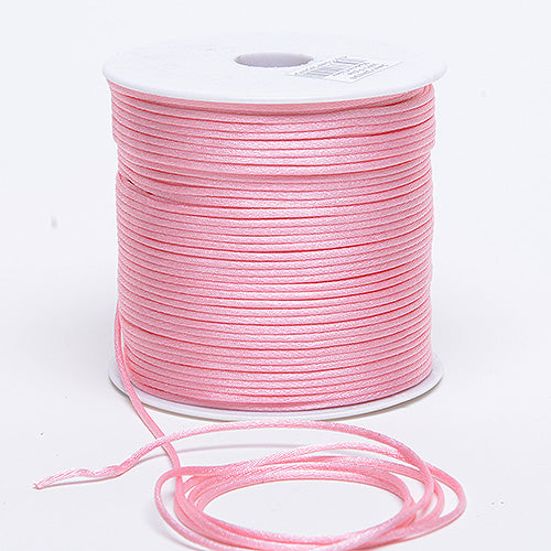 Pink - 2mm Satin Rat Tail Cord - ( 2mm x 100 Yards )