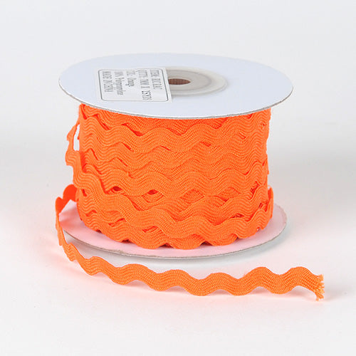 Orange - Ric Rac Trim - ( 7mm - 25 Yards )