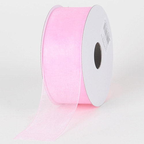 Light Pink - Sheer Organza Ribbon - ( 1-1/2 inch | 25 Yards )