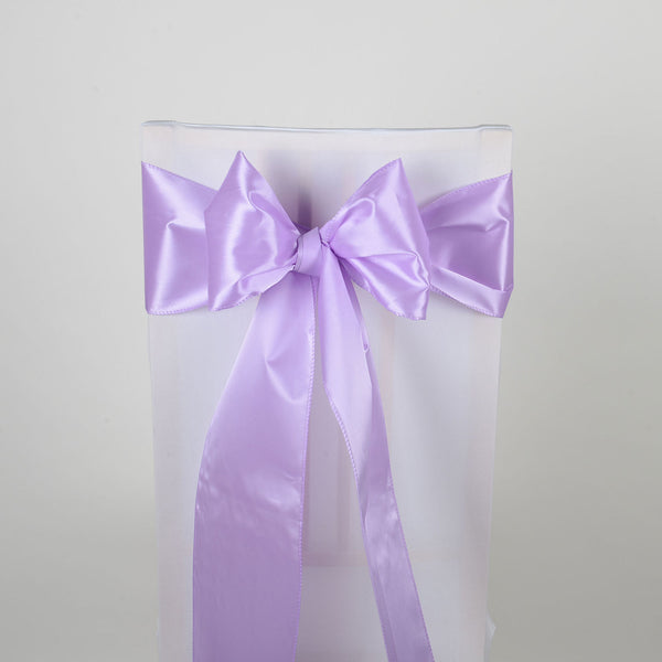 Lavender - Satin Chair Sash - ( Pack of 10 Piece - 6 inches x 106 inches )