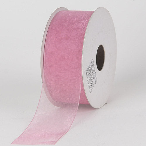 Mauve - Sheer Organza Ribbon - ( 5/8 inch | 25 Yards )