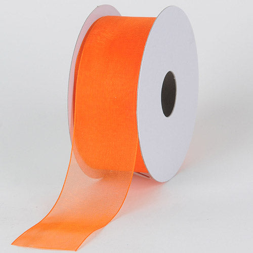 Orange - Sheer Organza Ribbon - ( W: 3/8 inch | L: 25 Yards )