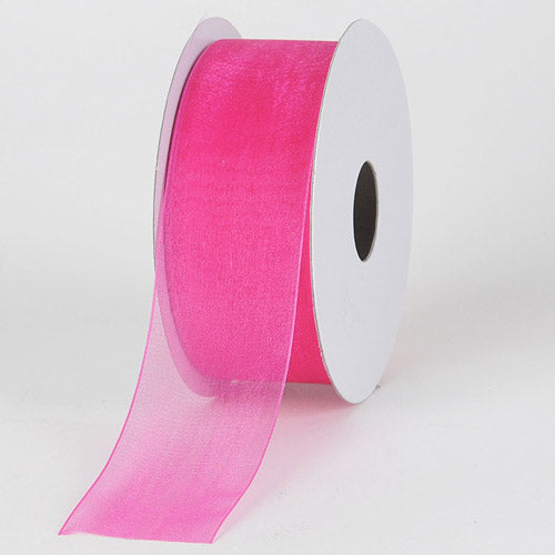 Fuchsia - Sheer Organza Ribbon - ( 7/8 inch | 25 Yards )
