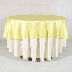 90 inch Satin Round Tablecloths