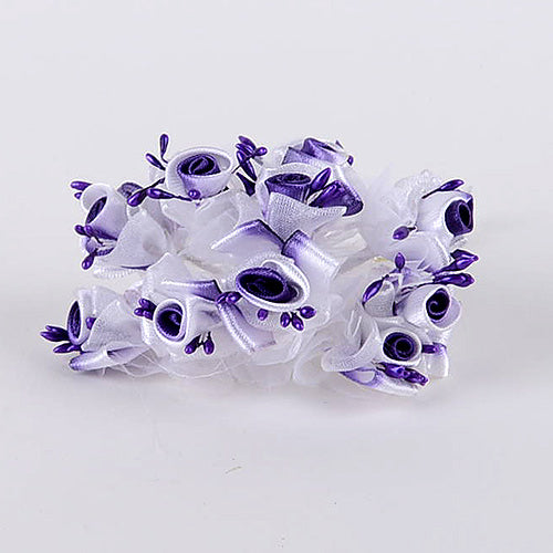 Organza and Satin Flowers (10x12) Purple ( 12 Mini Flowers )