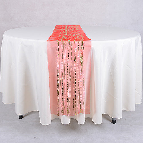 Organza Table Runners Red with Gold ( 14 inch x 108 inches )