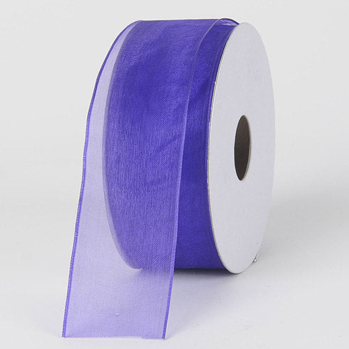 Purple Haze - Organza Ribbon Thin Wire Edge 25 Yards - ( 2-1/2 inch | 25 Yards )