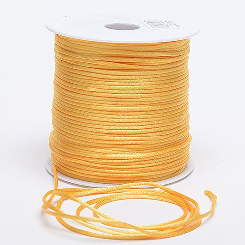 Light Gold - 3mm Satin Rat Tail Cord - ( 3mm x 100 Yards )