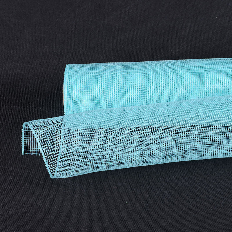 Aqua Blue  - Floral Mesh Wrap Solid Color -  ( 10 Inch x 10 Yards )