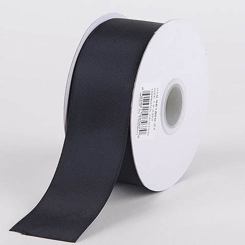 Black - Satin Ribbon Double Face - ( W: 3/8 Inch | L: 25 Yards )