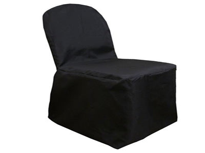 Black - Banquet Chair Cover Poly - ( Chair Cover )