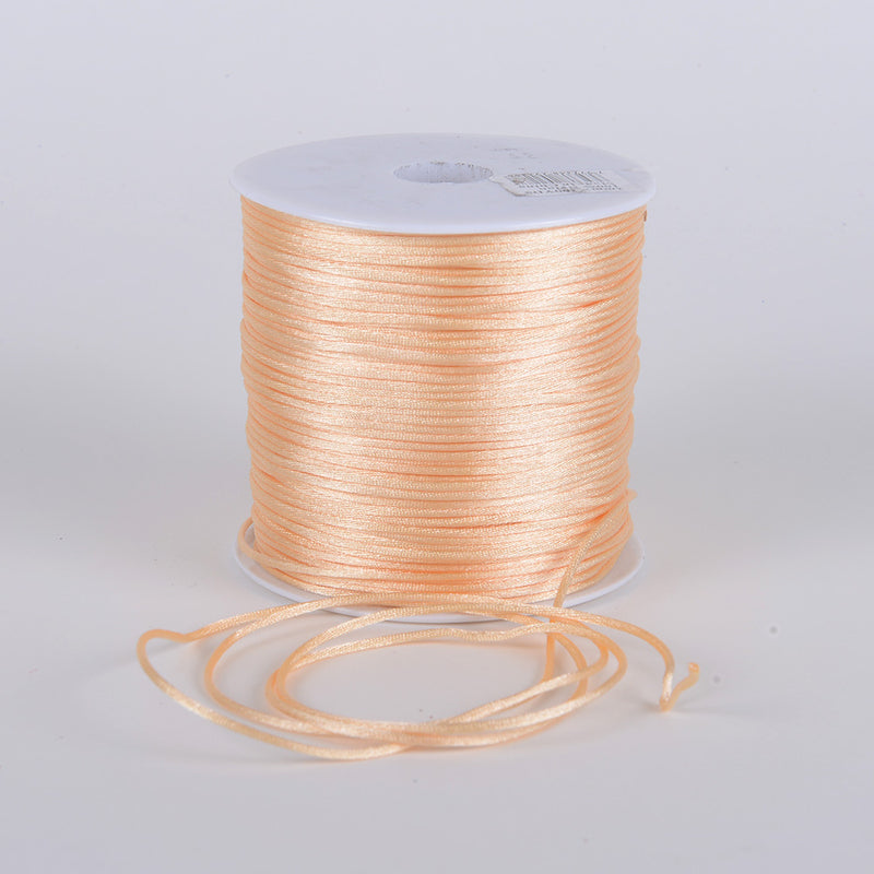 Beige - 2mm Satin Rat Tail Cord - ( 2mm x 100 Yards )