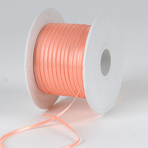 Peach - Satin Ribbon 1/16 x 100 Yards - ( W: 1/16 inch | L: 100 Yards )