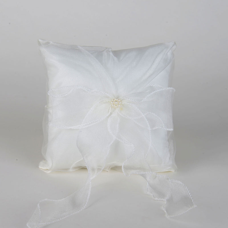 Ring Bearer Pillow Ivory ( 7 Inch x 7 Inch ) - 5525I