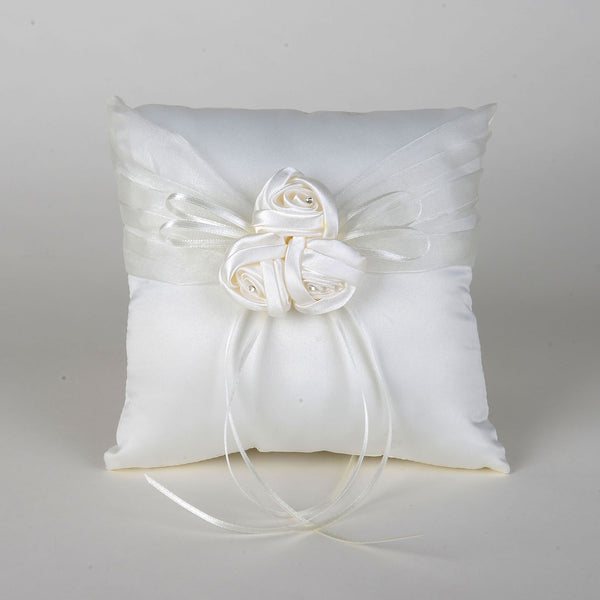 Ring Bearer Pillow Ivory ( 7 Inch x 7 Inch ) - 5615I