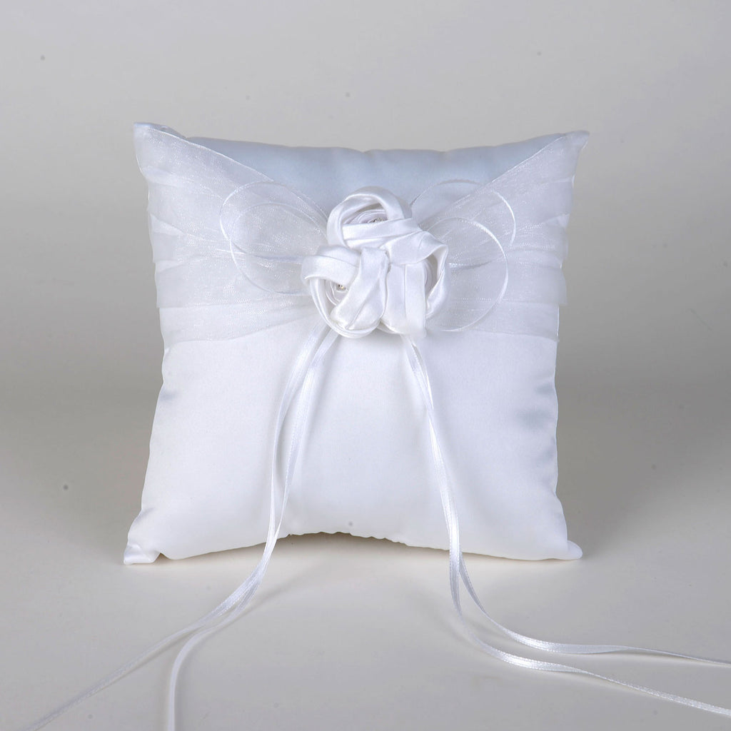 Ring Bearer Pillow White ( 7 Inch x 7 Inch ) - 5615W