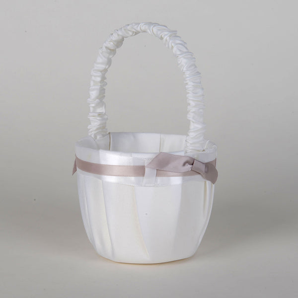 Flower Girl Baskets Tan ( 7 Inch Tall ) - 5667