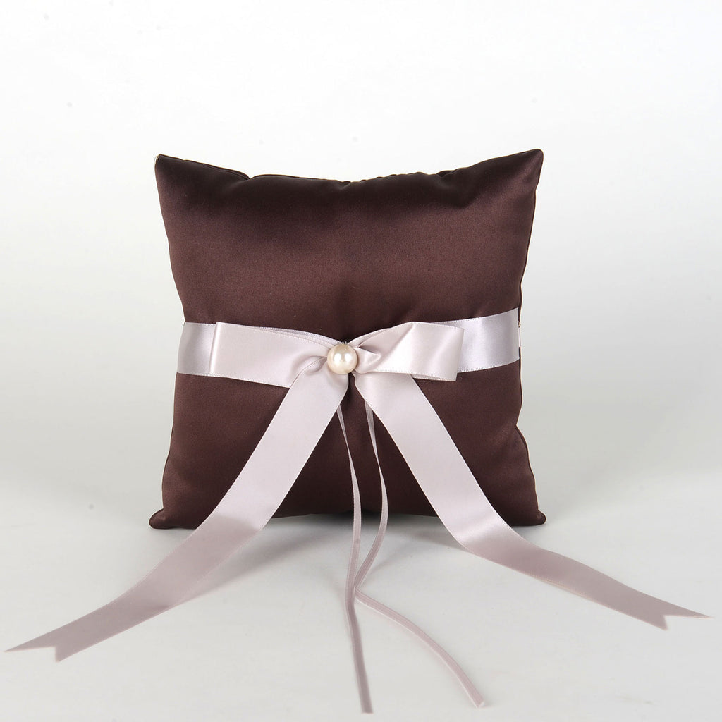 Ring Bearer Pillow Brown ( 7 x 7 Inch ) - 5701