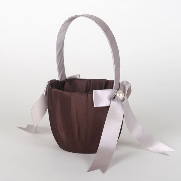 Flower Girl Baskets Brown ( 7 Inch Tall ) - 5702
