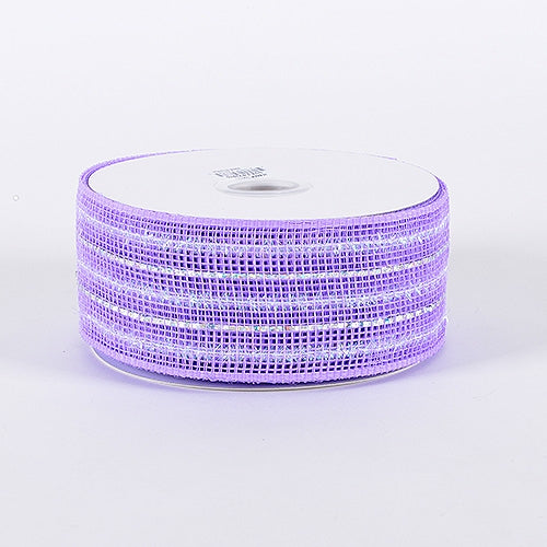 Lavender - Laser Metallic Mesh Ribbon - ( 4 Inch x 25 Yards )