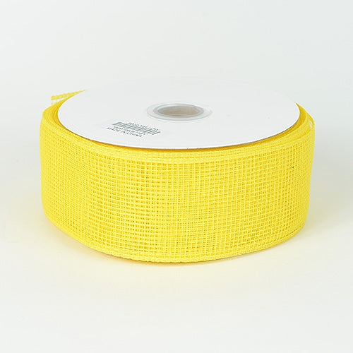 Yellow - Floral Mesh Ribbon - ( 2-1/2 inch x 25 Yards )