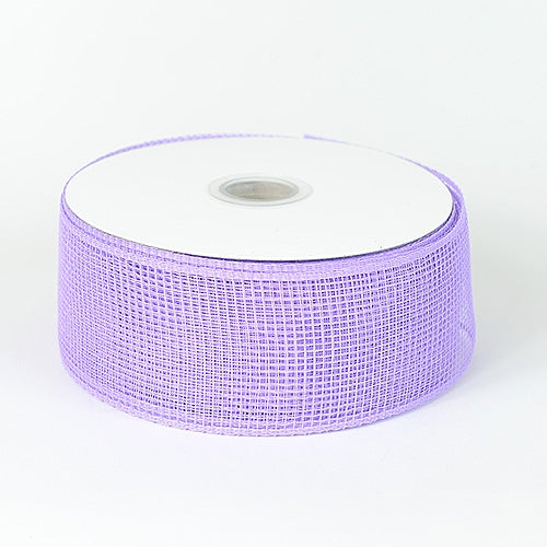 Lavender - Floral Mesh Ribbon - ( 2-1/2 inch x 25 Yards )