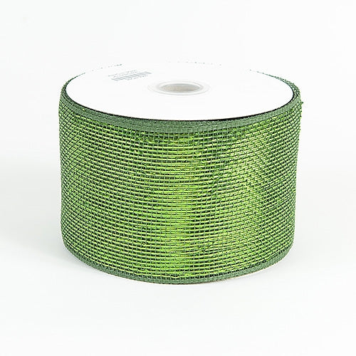 Moss - Metallic Deco Mesh Ribbons - ( 4 inch x 25 yards )