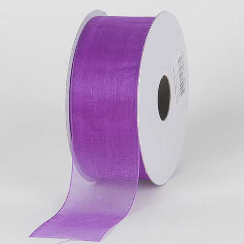 Purple - Sheer Organza Ribbon - ( W: 3/8 inch | L: 25 Yards )