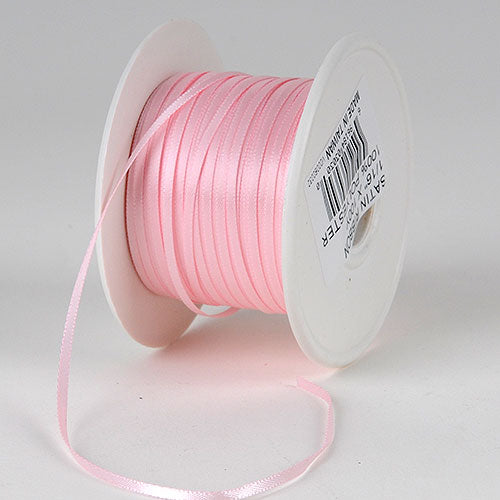 Light Pink - Satin Ribbon 1/16 x 100 Yards - ( W: 1/16 inch | L: 100 Yards )