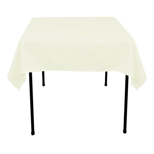 Ivory - 52 x 52 Square Tablecloths - ( 52 Inch x 52 Inch )