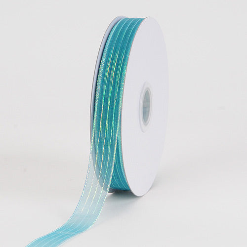 Teal - Corsage Ribbon - ( W: 3/8 inch | L: 50 Yards )
