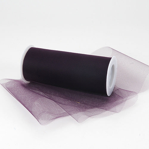 Plum Premium Tulle Fabric ( 6 Inch | 25 Yards )