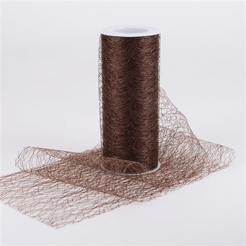 Chocolate - Sisal Mesh Wrap Rolls - ( 6 x 10 Yards )