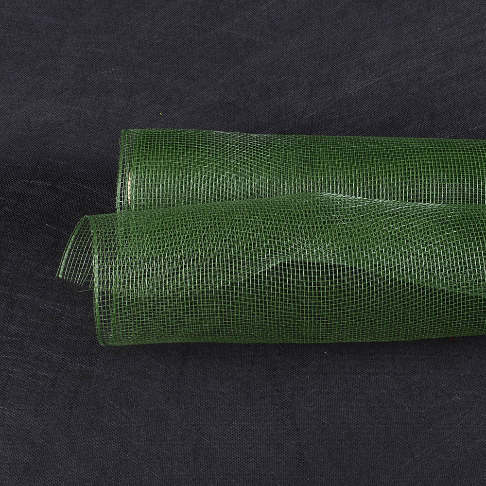 Spring Moss  - Floral Mesh Wrap Solid Color -  ( 10 Inch x 10 Yards )