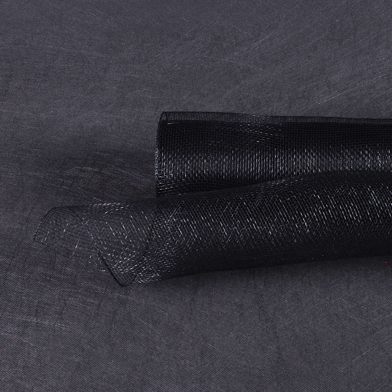 Black  - Floral Mesh Wrap Solid Color -  ( 10 Inch x 10 Yards )