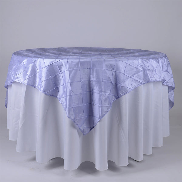 Lavender - 72 inch x 72 inch Square Pintuck Satin Overlay