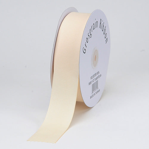 Ivory - Grosgrain Ribbon Matte Finish - ( 1/4 inch | 50 Yards )