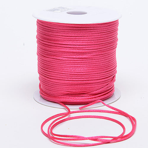 Fuchsia - 3mm Satin Rat Tail Cord - ( 3mm x 100 Yards )