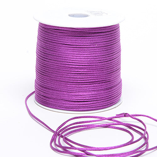Purple - 2mm Satin Rat Tail Cord - ( 2mm x 100 Yards )