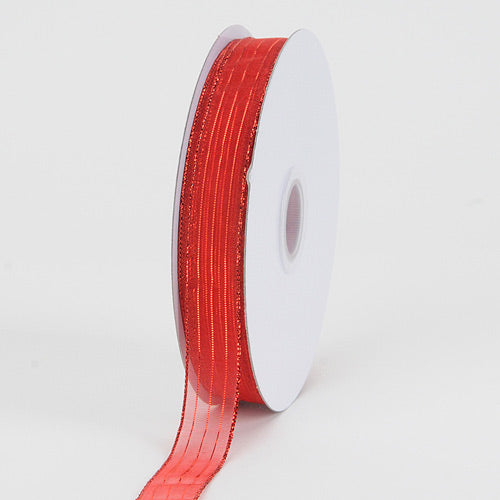 Red - Corsage Ribbon - ( W: 3/8 inch | L: 50 Yards )