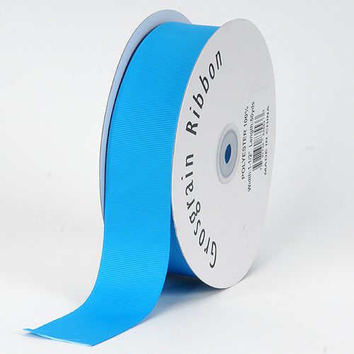 Turquoise - Grosgrain Ribbon Solid Color - ( W: 7/8 inch | L: 50 Yards )