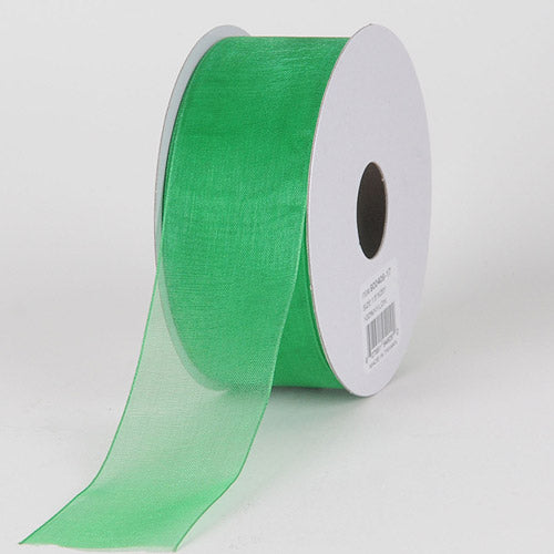 Emerald - Sheer Organza Ribbon - ( 1-1/2 inch | 25 Yards )