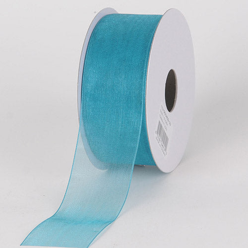 Teal - Sheer Organza Ribbon - ( 1-1/2 inch | 25 Yards )