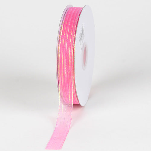Hot Pink - Corsage Ribbon - ( W: 3/8 inch | L: 50 Yards )