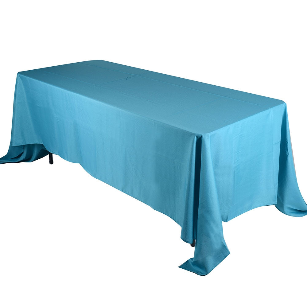 Turquoise - 90 x 132 Rectangle Tablecloths - ( 90 inch x 132 inch )