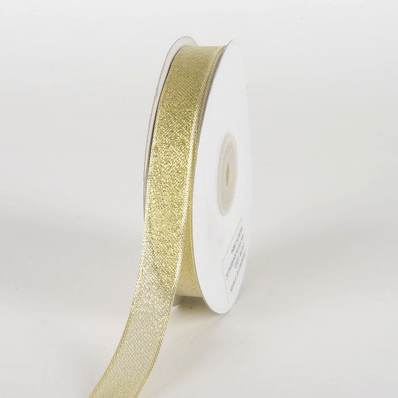 Gold - Metallic Sheer Ribbon - ( 5/8 Inch x 50 Yards )