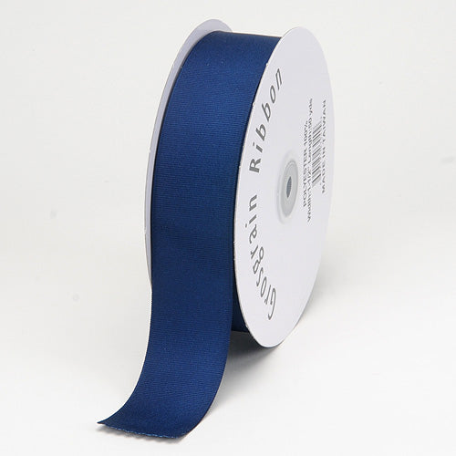 Navy - Grosgrain Ribbon Matte Finish - ( 1/4 inch | 50 Yards )