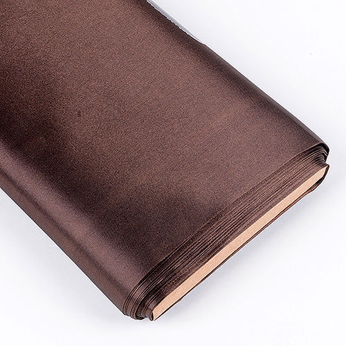 Brown - Premium Satin Fabric - ( W: 60 inch | L: 10 Yards )