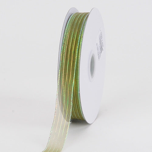 Corsage Ribbon Moss Iridescent ( 5/8 inch | 50 Yards )