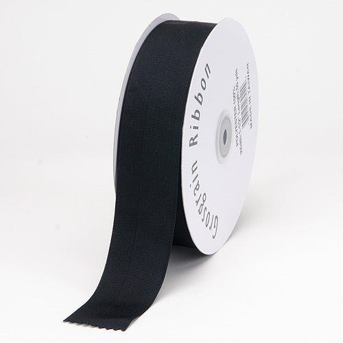 Black - Grosgrain Ribbon Matte Finish - ( W: 3 Inch | L: 25 Yards )